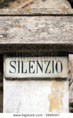 Silence Inscription