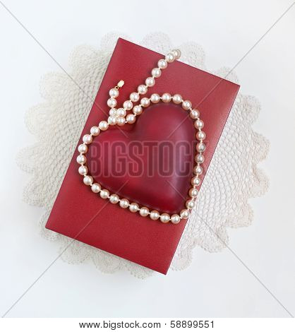 Red & White Valentine Keepsake
