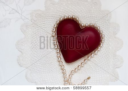Shades of White with Red Heart