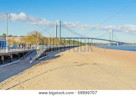 NEW YORK, SEPTEMBER 28, 2013 - Staten Island boardwalk