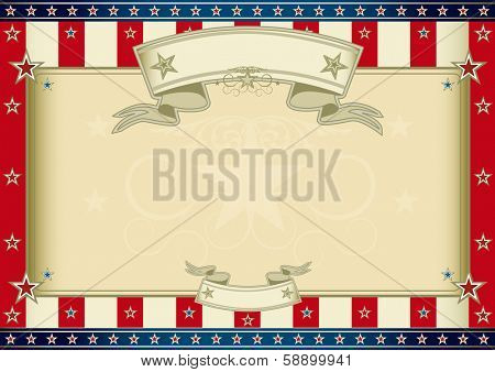 American certificate. An horizontal american poster for your message. Perfect size for your screen, your  pad....
