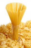 Spaghetti in glass on pasta poster