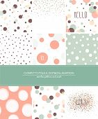 stock photo of dots  - A set of 9 Confetti - JPG