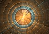 stock photo of sonar  - Detail view of sonar screen in fractal form - JPG