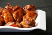 stock photo of junk food  - spicy chicken wings for dinner time and lunch time - JPG