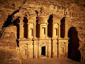 picture of petra jordan  - The monastery in Petra - JPG