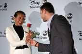 LOS ANGELES - JAN 17:  Penny Johnson Jerald, Juan Pablo Galavis at the Disney-ABC Television Group 2