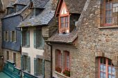 Old Medieval Houses In Mont Saint Michel poster