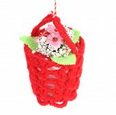 picture of macrame  - Flower in a basket - JPG