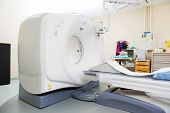 stock photo of cat-scan  - CT scan machine in examination room at hospital - JPG