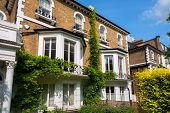 pic of victorian houses  - Traditional town houses at Hammersmith district in London - JPG