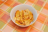 Homemade potatoes chips