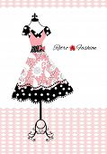 stock photo of poka dot  - retro dress  - JPG