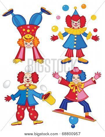 circus clown (vector illustration)