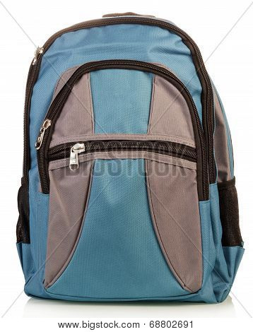 Blue school backpack