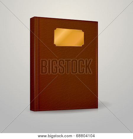 Vector illustration of brown notebook