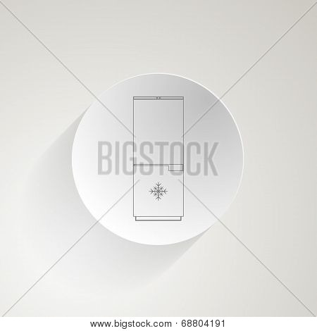 Vector flat icon for fridge