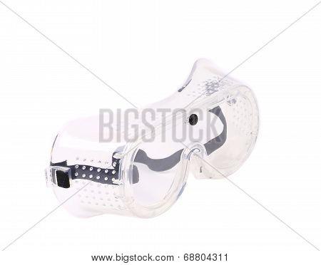 Protective eyeglasses.