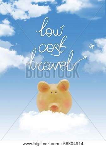 Piggy Bank On A Cloud With