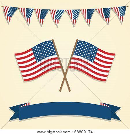 American decorations. Vector illustration.