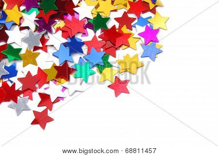 confetti border frame isolated on white