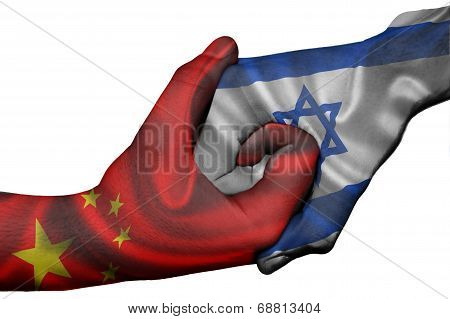 Handshake Between China And Israel