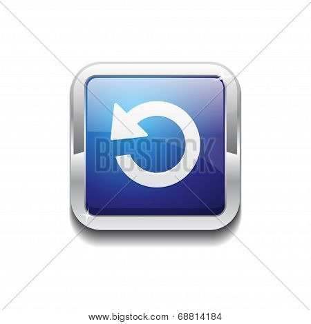 Reset Rounded Corner Square Vector Blue Web Icon Button