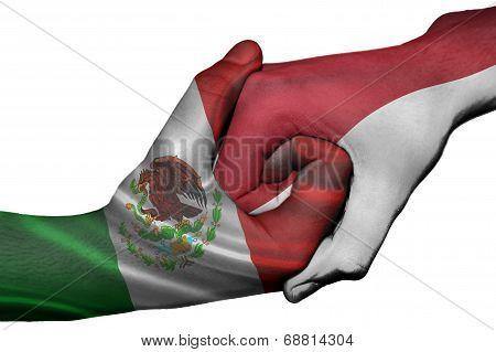 Handshake Between Mexico And Indonesia