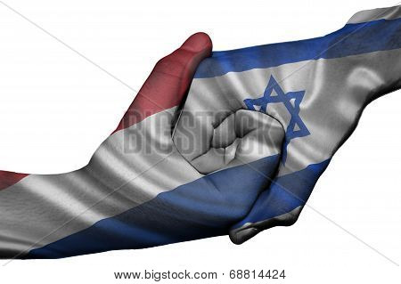 Handshake Between Netherlands And Israel