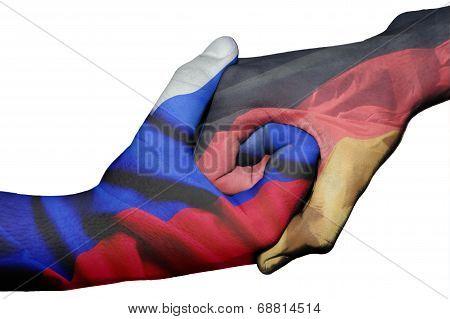 Handshake Between Russia And Germany