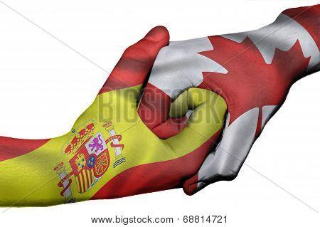 Handshake Between Spain And Canada