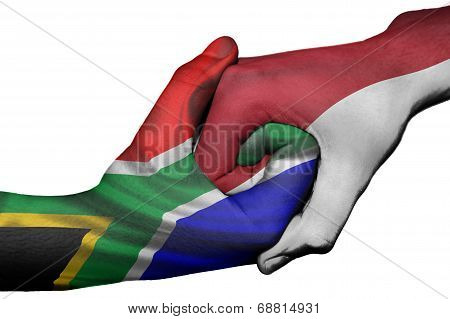 Handshake Between South Africa And Indonesia