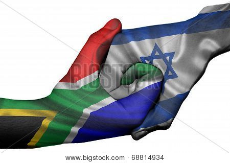 Handshake Between South Africa And Israel
