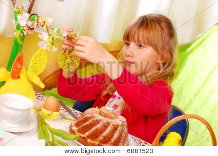Young Girl In Easter Time