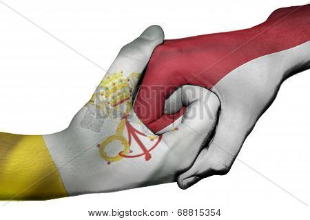 Handshake Between Vatican City And Indonesia