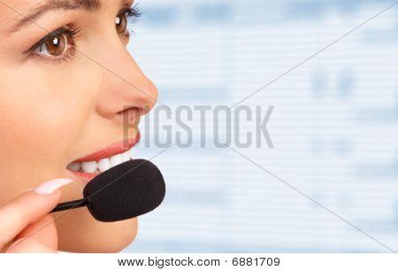 Beautiful Smiling Customer Service