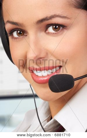 Beautiful Smiling Customer Service