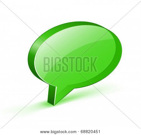 Green glossy bubble. Vector illustrations