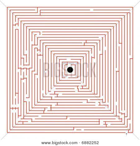 Square Red Maze
