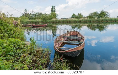 Moored Rowing Boats