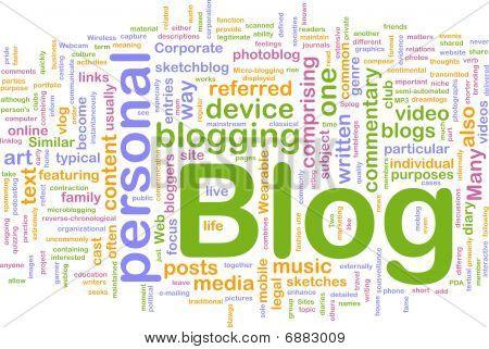 Concepto de fondo de Blog Web
