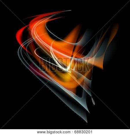 Burn flame fire vector abstract background