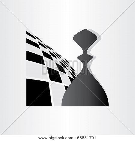 Chess Symbol Pawn Design