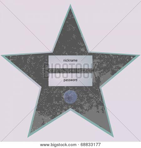 Vintage star-shaped entry form
