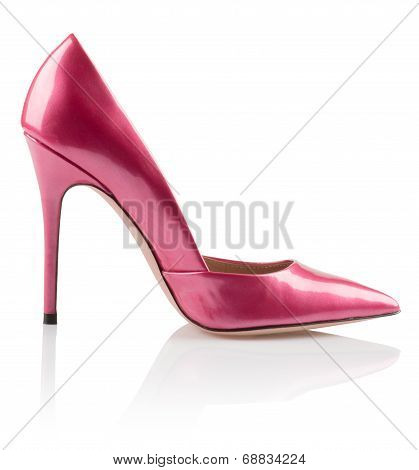 Fashionable pink women shoe
