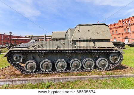Soviet 76 Mm Self-propelled Gun Su-76M