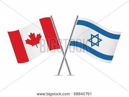 Canadian and Israeli flags.