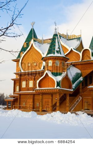 Full-scale Reconstruction Of Wooden Palace In Kolomenskoe, A Former Royal Estate In Moscow, Russia.