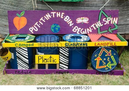 Hippie Recycle Display