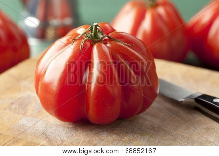 Whole fresh Coeur de Boeuf Tomato